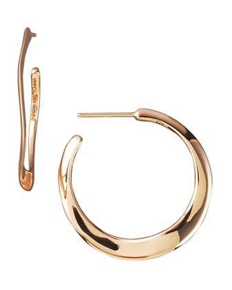 Wavy Rose Gold Hoop Earrings