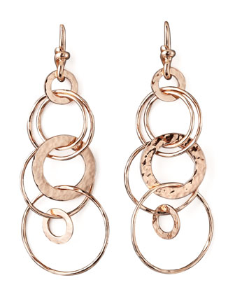 Rose Gold Multi-Link Jet-Set Earrings, Mini