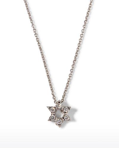 Diamond Star of David Necklace