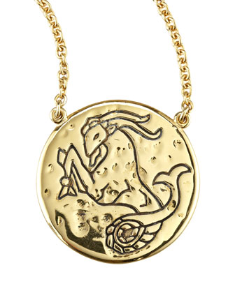 Astrology Necklace, Capricorn