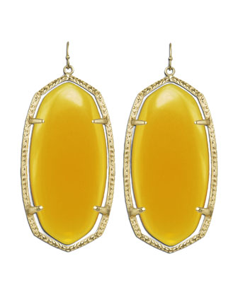 Danielle Earrings, Yellow Onyx