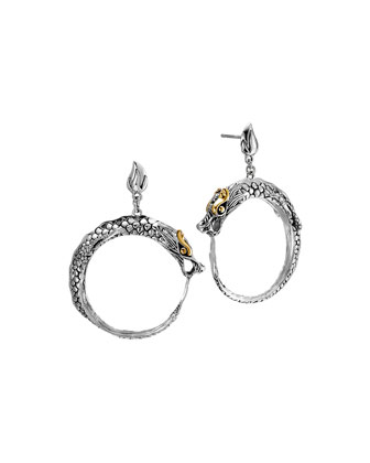 Naga Dragon Hoop Earrings