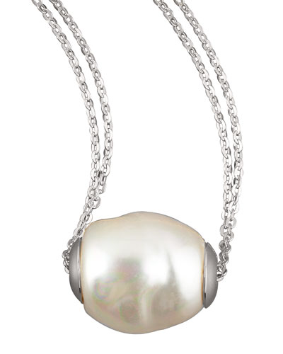 Baroque pearl jewelry at neiman marcus baroque pearl pendant necklace white aloadofball Gallery