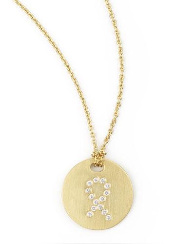 Diamond Ribbon Necklace