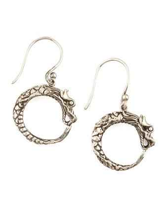 Dragon Hoop Earrings, Small