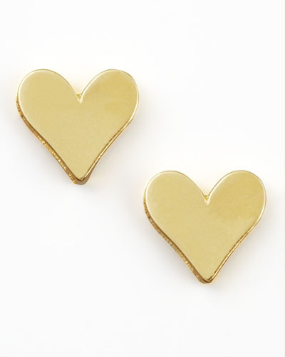 Gold Heart Earrings