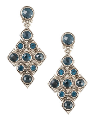 London Blue Topaz Cascade Earrings