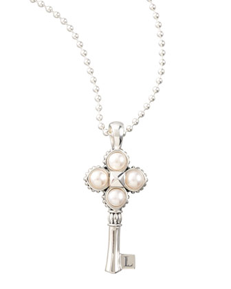 Pearl Key Pendant Necklace