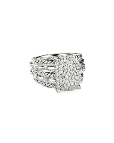 Tides Diamond Pave Ring, Size 9