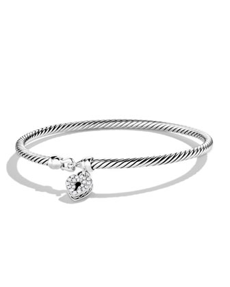Cable Collectibles Heart Lock Bracelet, 3mm