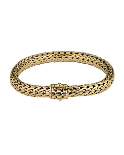 Gold Classic Chain Bracelet, Size M