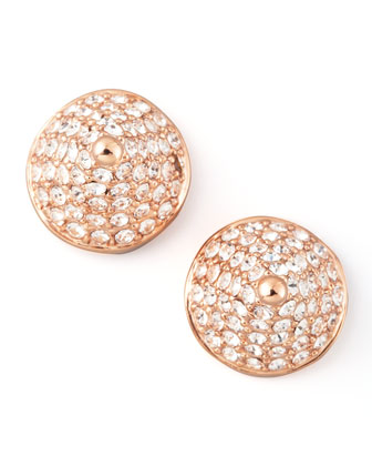 Pave Crystal Cone-Stud Earrings