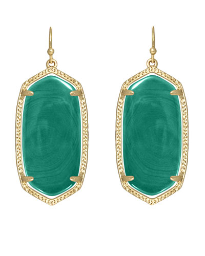 Elle Earrings, Green Onyx