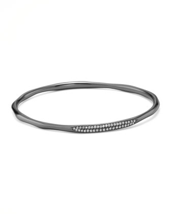 Black Rhodium Diamond Bangle