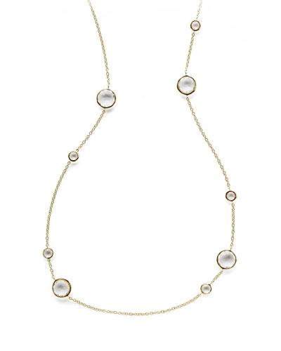 Clear Quartz Lollipop Necklace, 36