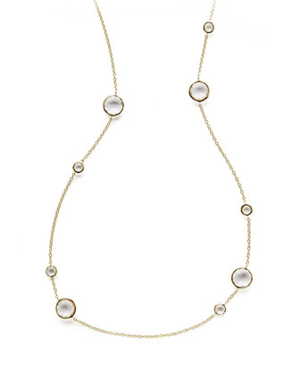 Clear Quartz Lollipop Necklace, 37