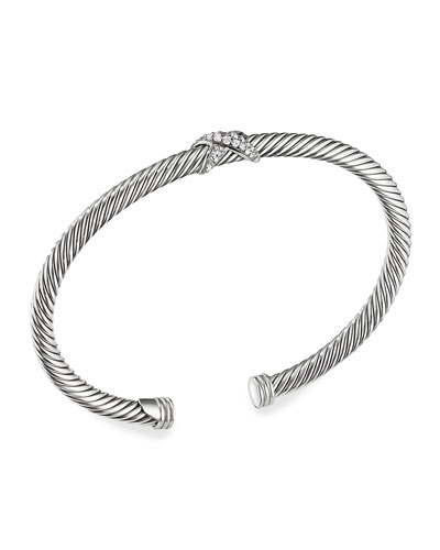X Bracelet with Diamonds