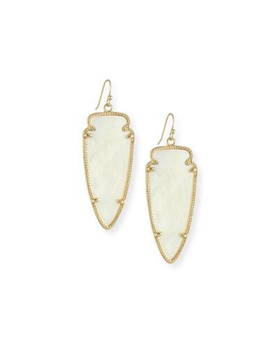 Skylar Arrow Earrings, Mother-of-Pearl