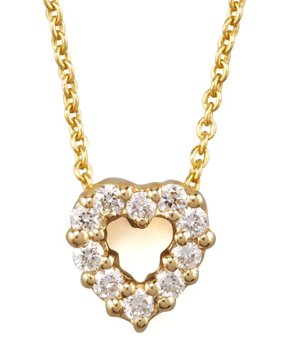 Pave Heart Necklace, Small