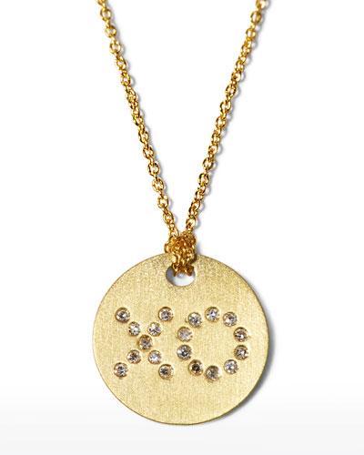 Diamond XO Medallion Necklace