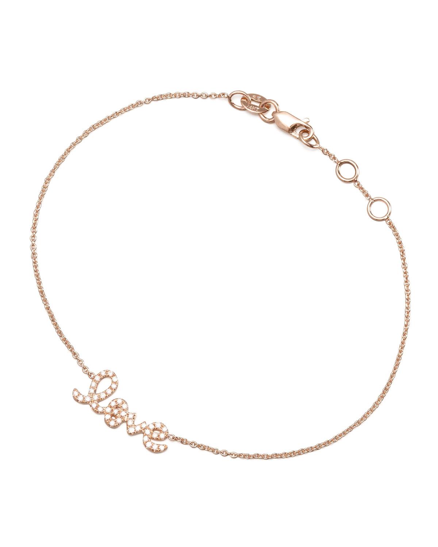 Rose Gold Diamond Love Bracelet
