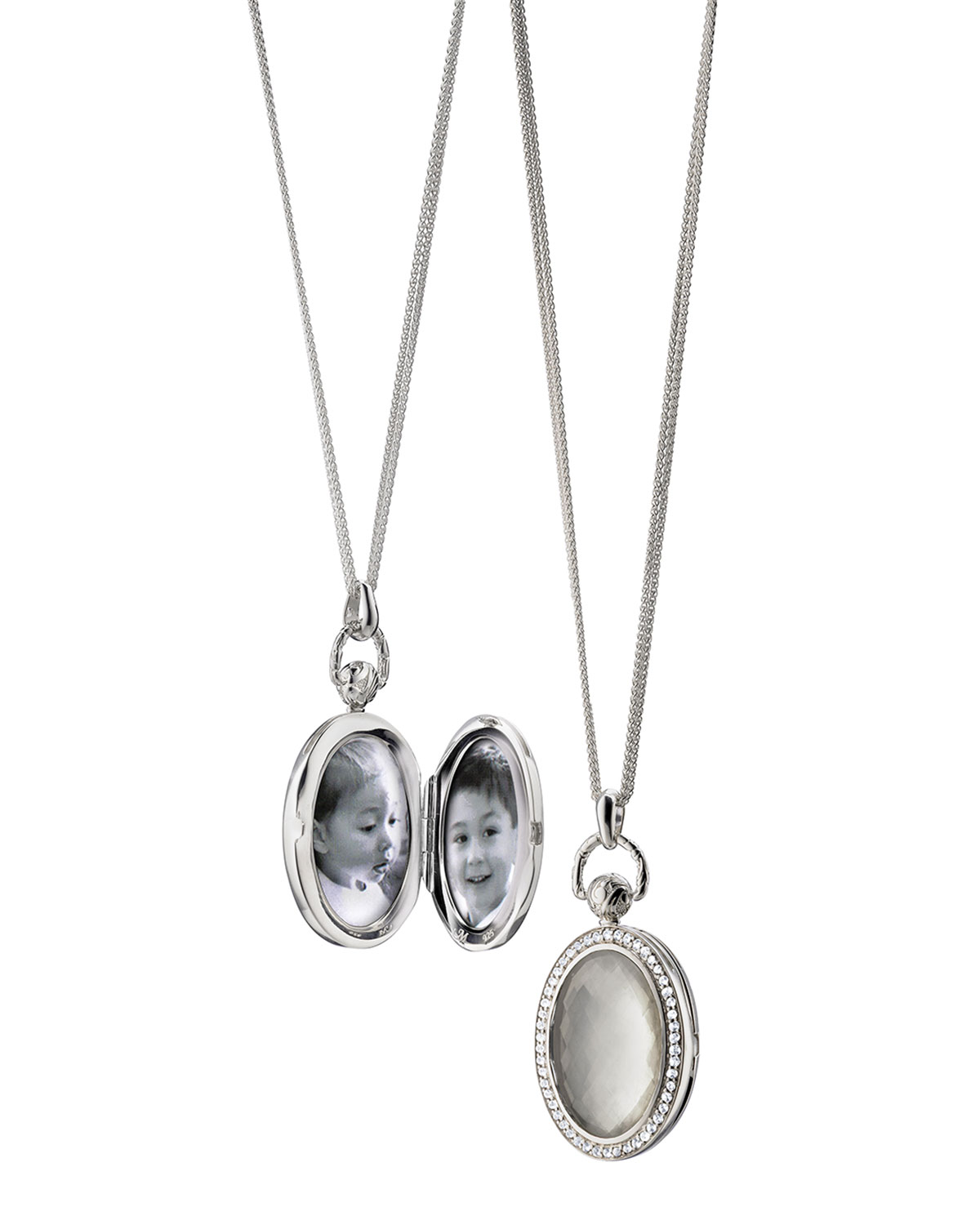 Monica Rich Kosann Mother-of-Pearl Locket Necklace HLxUl