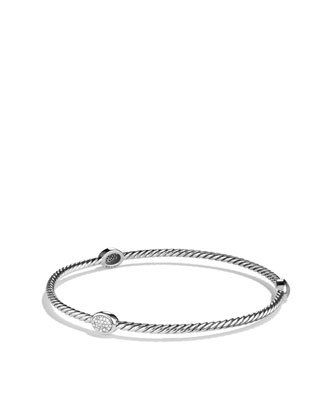 Cable Classics Bracelet, Pave Diamonds
