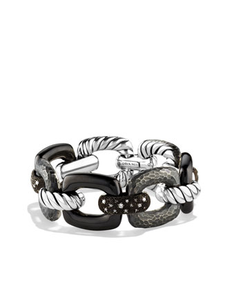Midnight Melange Linked Bracelet, Pave Diamonds