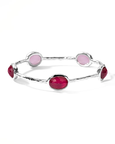 Oval Raspberry-Station Wonderland Bangle
