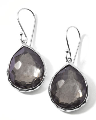 Pyrite Doublet Drop Earrings, Mini