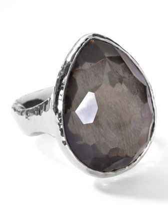 Pyrite Teardrop Ring