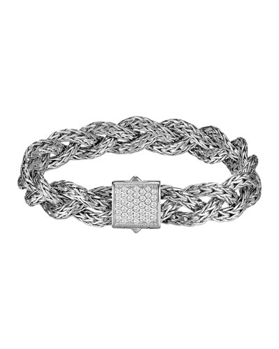 Diamond Braided Chain Bracelet, Small