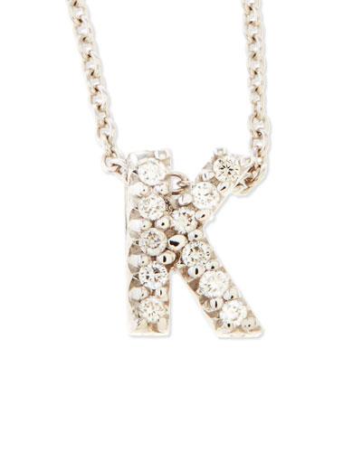 Diamond Love Letter Necklace