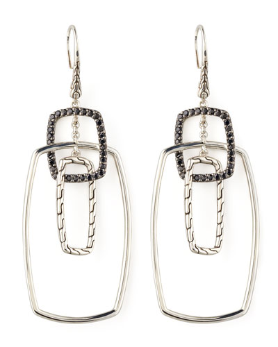 Classic Chain Rectangular Drop Earrings