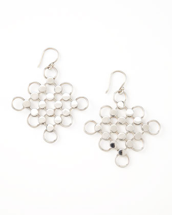 Dot Diagonal Square-Drop Earrings