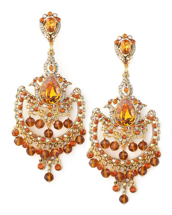 Topaz-Colored Drop Earrings