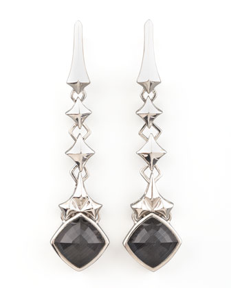 Cat's Eye Drop Earrings