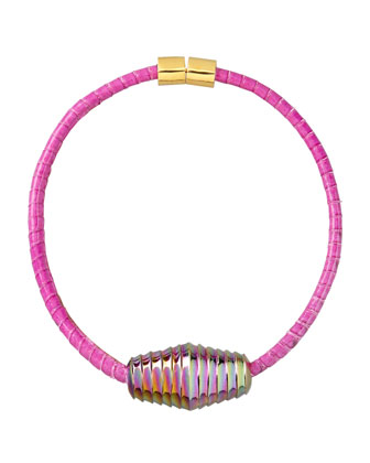 Scaled Choker Necklace, Pink