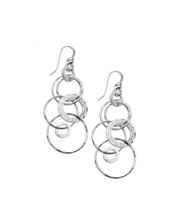 Silver Multi-Link Jet-Set Earrings