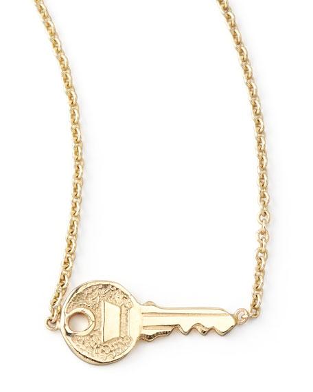 Zoe Chicco 14k Yellow Gold Key Pendant Necklace