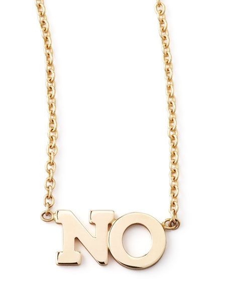 Zoe Chicco 14k No Necklace, Gold