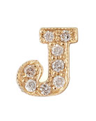 Pave Diamond Single Initial Earring
