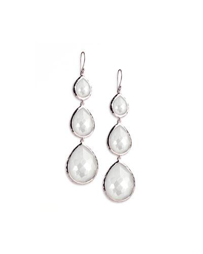 Triple Teardrop Earrings in Mother-of-Pearl Doublet