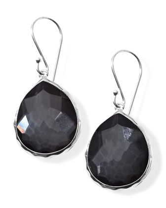 Teardrop Earrings, Hematite