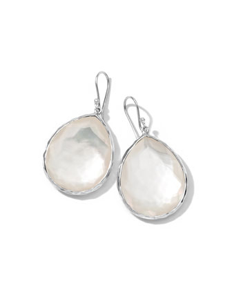 Mother-of-Pearl Teardrop Earrings, Large