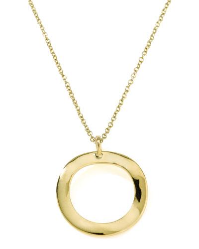 Mini Wavy Circle Pendant Necklace