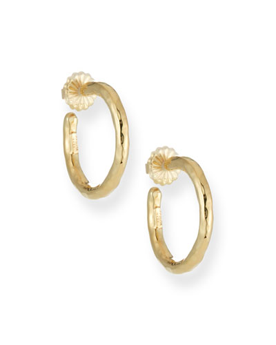 Glamazon Yellow Gold Hoop Earrings