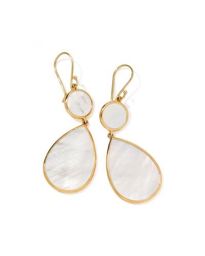 Rock Candy Snowman Earrings, Mother-of-Pearl