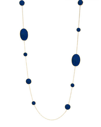 Rock Candy Lapis Station Necklace