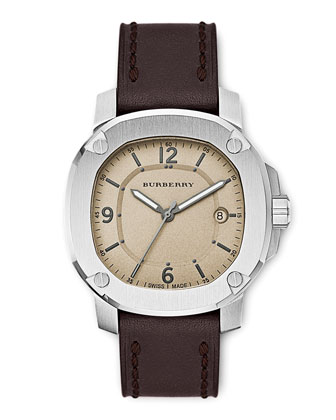 43mm Watch, Brown